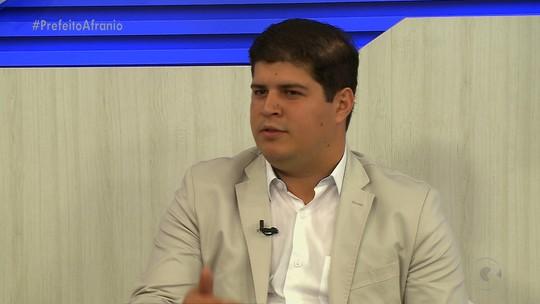 Rafael Cavalcanti fala sobre projetos de segurança e economia de Afrânio