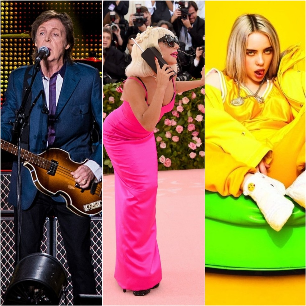 Paul McCartney, Lady Gaga e Billie Eilish cantam no festival One World: Together at Home — Foto: Divulgação