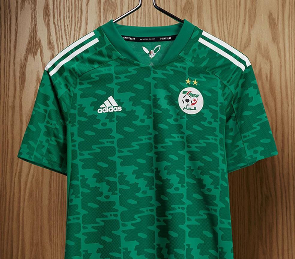 A Argélia lançou seu novo uniforme reserva  — Foto: Divulgação/Adidas