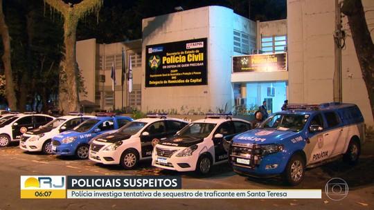 Policiais são investigados em tentativa de sequestro de traficante em Santa Teresa