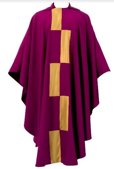 veste litúrgica criada por Athos Bulcão para a Catedral de Brasília (Foto: Fundação Athos Bulcão / Divulgação)