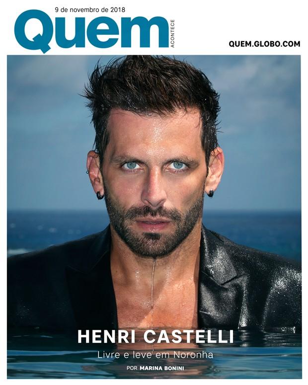 Henri Castelli é Capa da QUEM dessa semana (Foto:  )