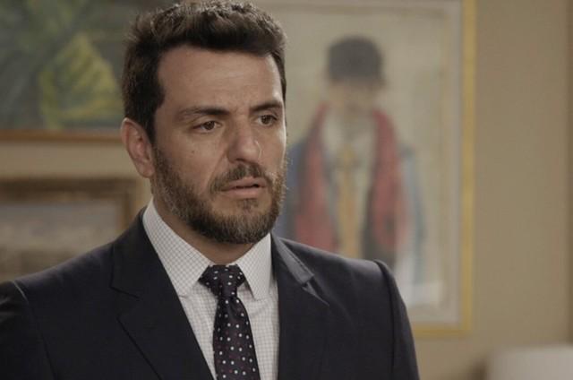 Rodrigo Lombardi como Caio em cena de 'A força do querer' (Foto: Reprodução)