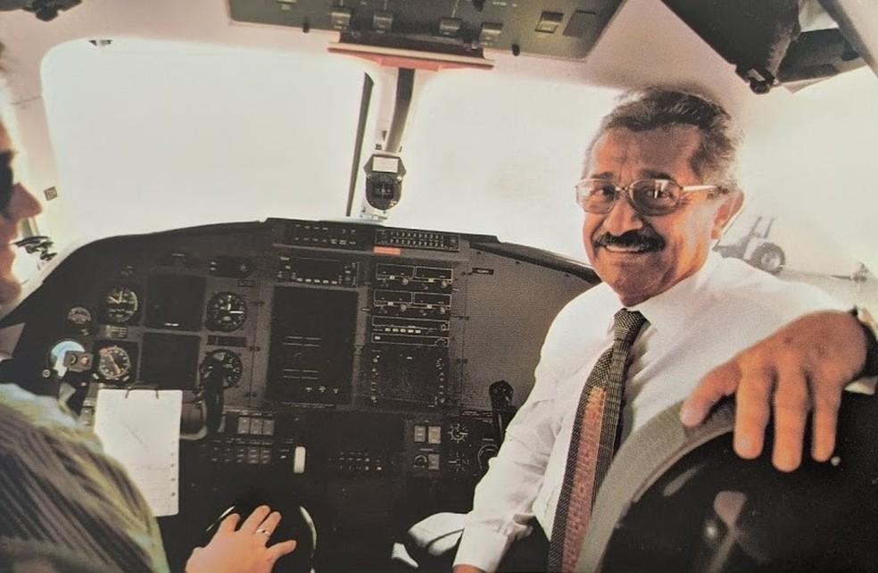 Senador José Maranhão era também piloto de avião — Foto: Arquivo Pessoal