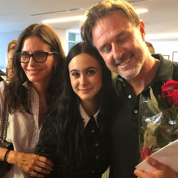 Courteney Cox, Coco e David Arquette (Foto: Reprodução / Instagram)