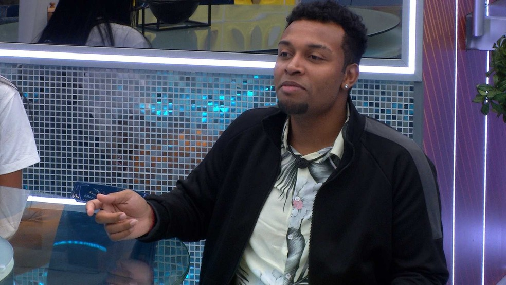 No Vip do BBB21, Nego Di faz planos caso volte do Paredão  — Foto: Globo