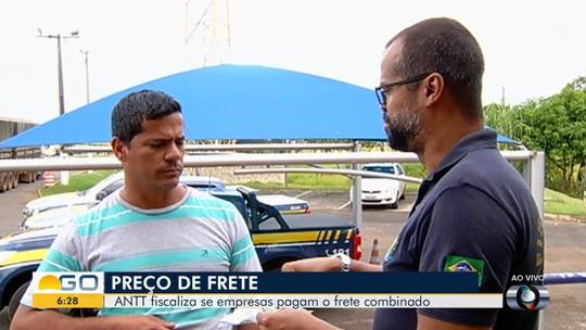 ANTT fiscaliza frete em rodovias que passam por Goiás