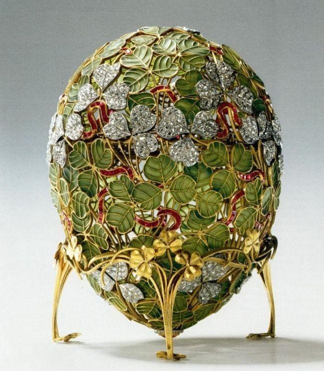 Trevos, uma das mais belas criações de Fabergé (Foto: Divulgação)