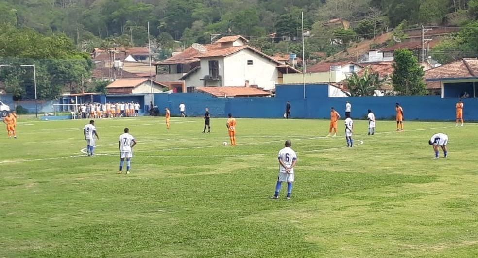 Audax/Miguel Pereira marca no fim e vence Olaria de virada no Estádio Fructuoso Fernandes — Foto: Paulo Ico/Audax/Miguel Pereira