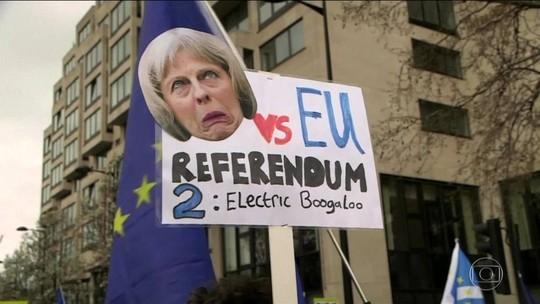 Protesto e petição online defendem novo referendo sobre o Brexit