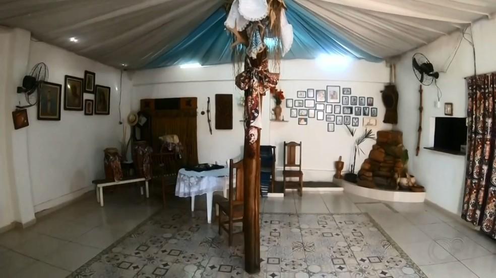 Local onde a menina fazia o ritual em Araçatuba — Foto: Reprodução/TV TEM