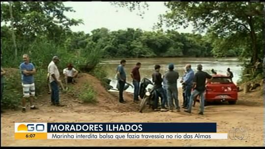 Interdição de balsa deixa moradores ilhados em povoado de São Luiz do Norte