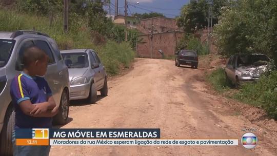 MG Móvel volta à Esmeraldas onde moradores pedem rede de esgoto e pavimentação