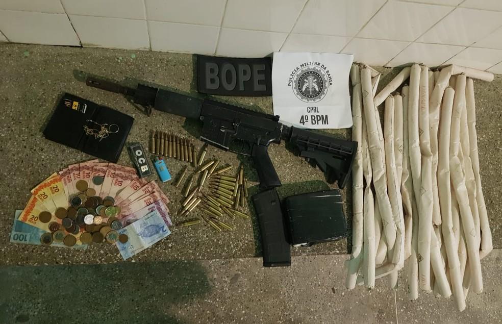 Suspeito de roubos a bancos e tráfico de drogas é morto em confronto na Bahia — Foto: SSP/Divulgação