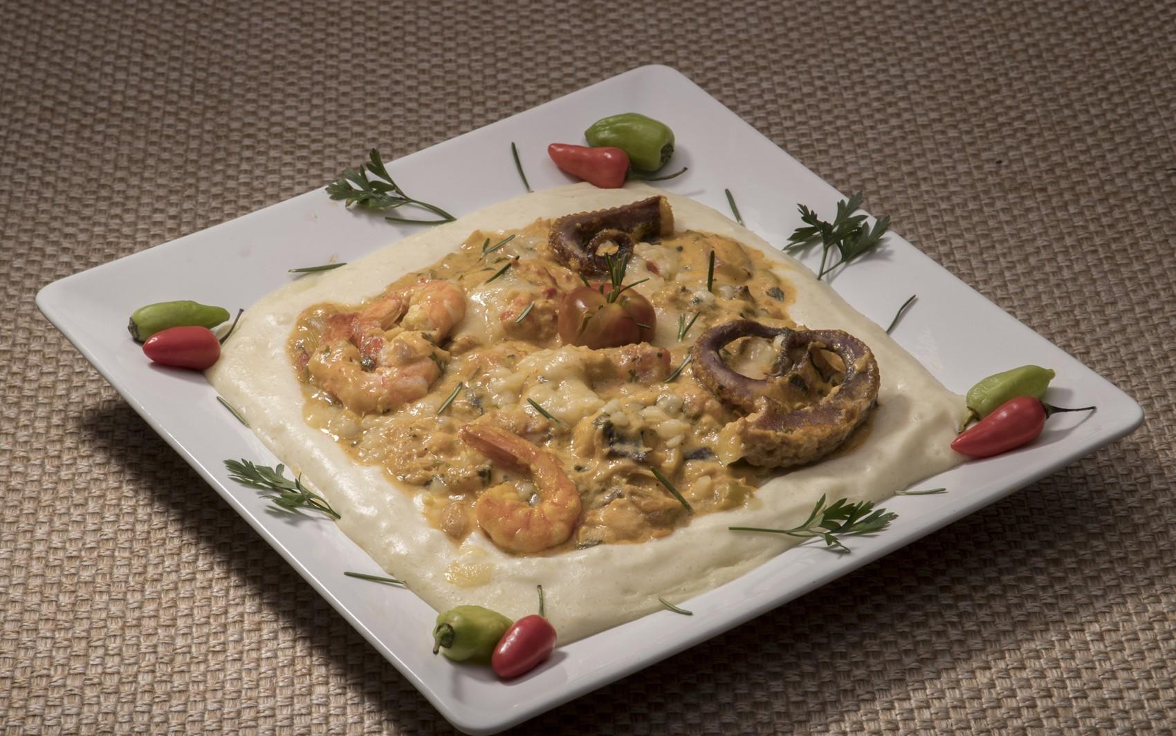 Comida di Buteco: escondidinho de frutos do mar com macaxeira e batata é um dos petiscos do festival