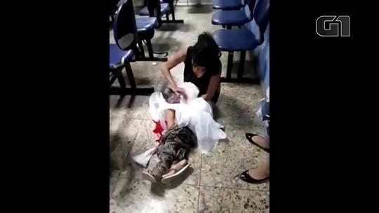 Mãe dá à luz no chão de hospital  à espera de atendimento no RJ