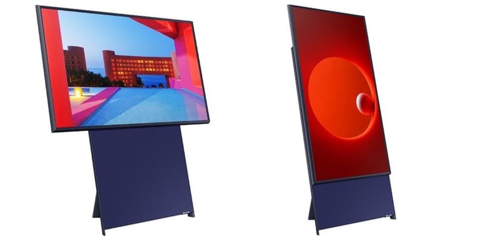 The Sero funciona tanto na vertical como na horizontal — Foto: Divulgação/Samsung