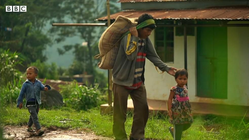 Vilarejo Kong Thong, na Índia, onde as pessoas são conhecidas por melodias — Foto: BBC News