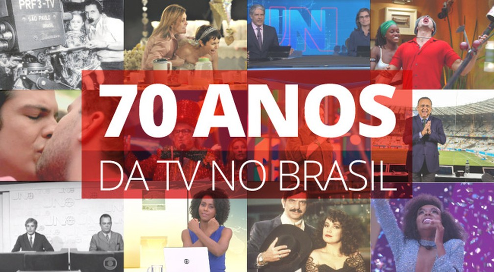 Televisão completa 70 anos no Brasil em 18 de setembro — Foto: Arte/G1