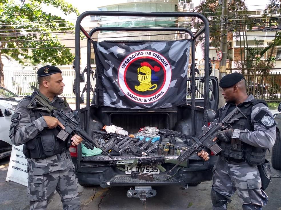 Batalhão de Choque participou de operação no Fallet-Fogueteiro — Foto: Divulgação