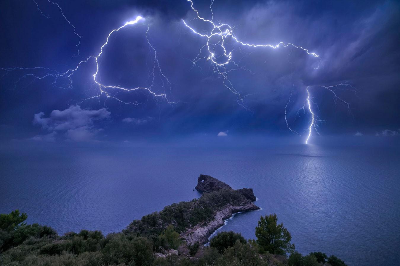 Tempestades em Mallorca, na Espanha  (Foto: Marc Marco Ripoll / RMets)