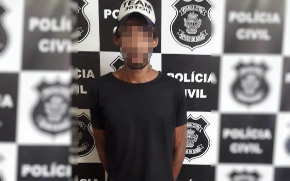 Jovem é suspeito de agredir a mulher e de machucar bebê durante discussão em Bom Jesus de Goiás — Foto: Divulgação/ Polícia Civil
