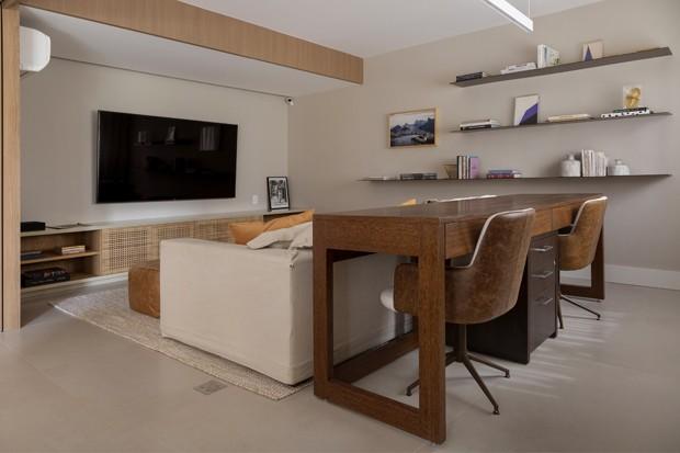 Apartamento com sala integrada e brinquedoteca (Foto: Julia Ribeiro )