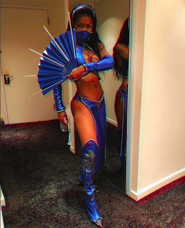 A celebridade Teyana Taylor como a personagem Katana, do game Mortal Kombat (Foto: Instagram)