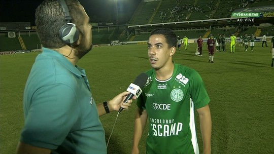 """Guilherme vibra com gol na estreia pelo Guarani: """"Comecei com o pé direito"""""""