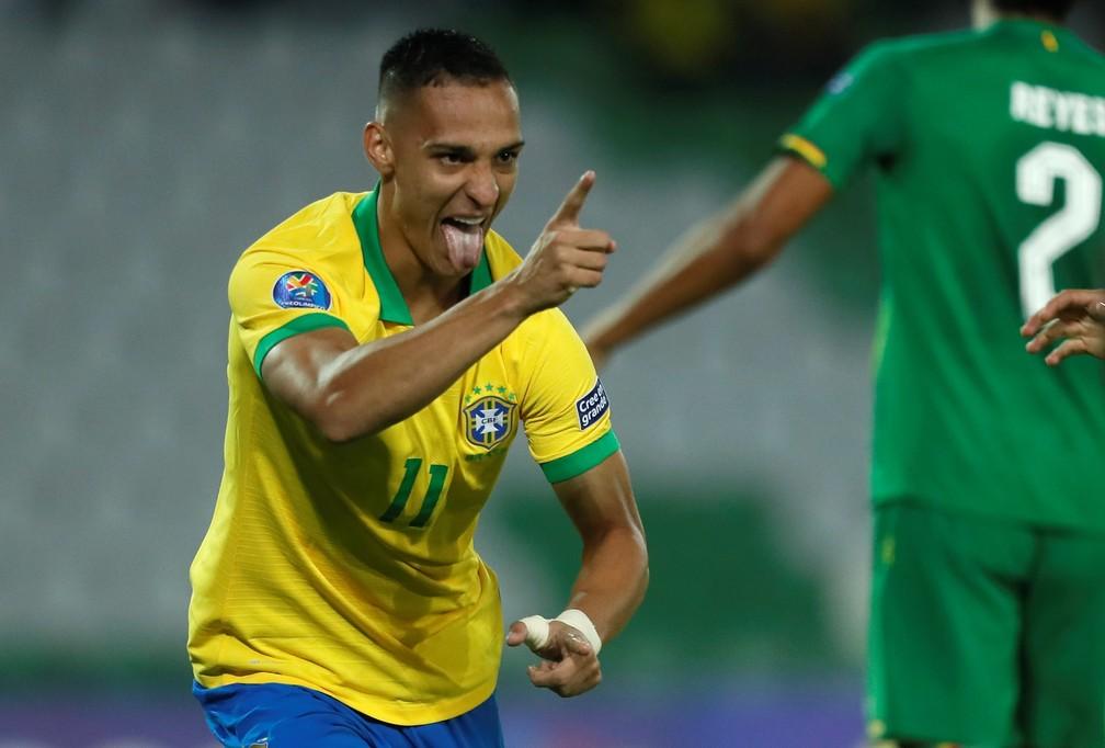 Antony está com a seleção brasileira na disputa do Pré-Olímpico — Foto: EFE/Ernesto Guzmán Jr.