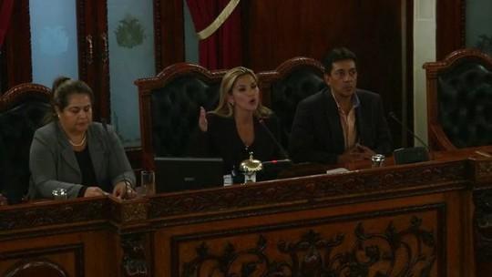 Vice-líder do Senado boliviano se autodeclara presidente