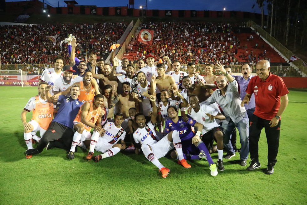 Vitória na útlima rodada assegurou vaga para a fase de grupos da Libertadores (Foto: Gilvan de Souza/Flamengo)