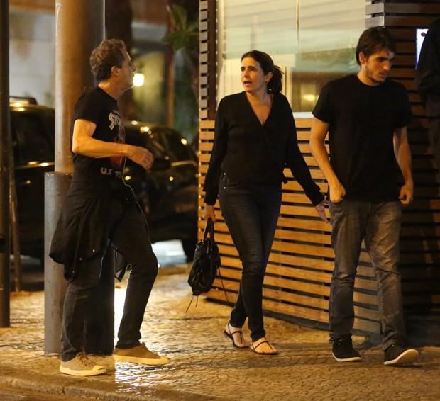 Malu Mader com Tony Bellotto e o filho mais velho, João Bellotto (Foto: Thiago Martins/AgNews)