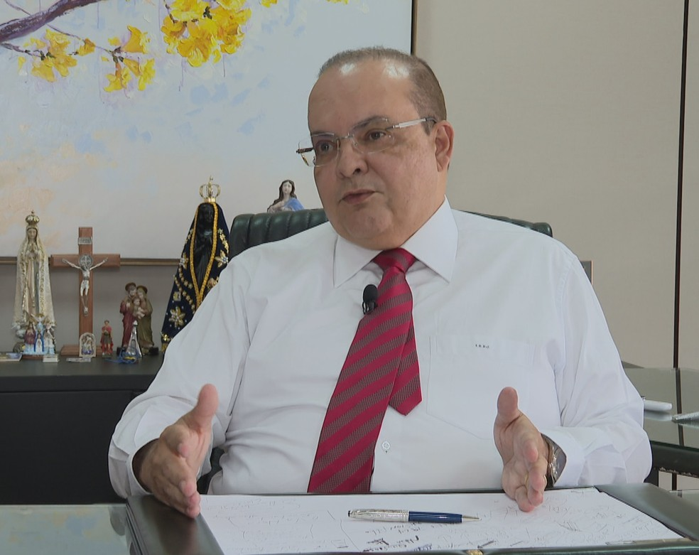 Governador do Distrito Federal, Ibaneis Rocha — Foto: Reprodução/TV Globo