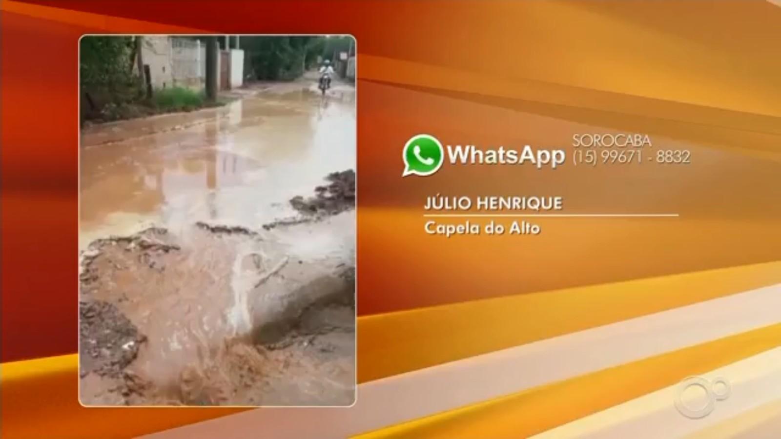 Chuva forte provoca correnteza de lama no Cercadinho em Capela do Alto