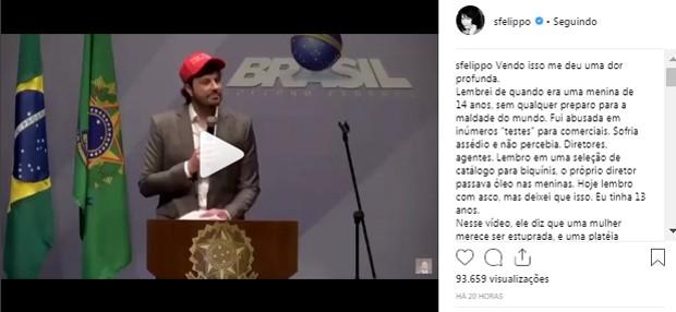 Texto de Samara Felippo (Foto: Reprodução/Instagram)