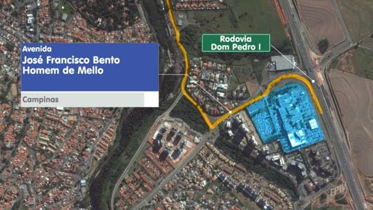 Obra de marginal interdita alça da Rodovia Dom Pedro I, em Campinas; confira alternativa