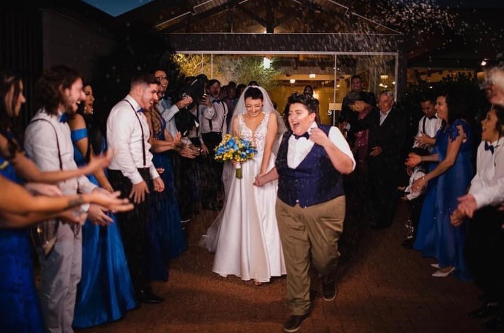 Ana Vilela e Amanda se casam — Foto: Reprodução/Instagram