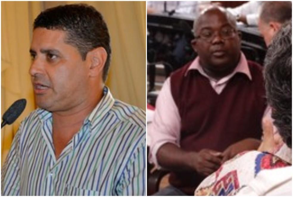 -  Cido Reis  esq  anunciou afastaento e Jucelio Maria  dir  vai assumir cadeira na Câmara de Juiz de Fora  Foto: G1