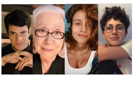 Mateus Solano, Fernanda Montenegro, Nanda Costa e Carol Duarte são alguns dos artistas que darão depoimentos na série sobre personagens LGBTQIA+ Divulgação e Reprodução/Instagram