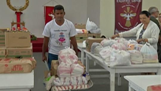 Associação Pró-Festa do Divino faz doação de alimentos a entidades de Mogi das Cruzes