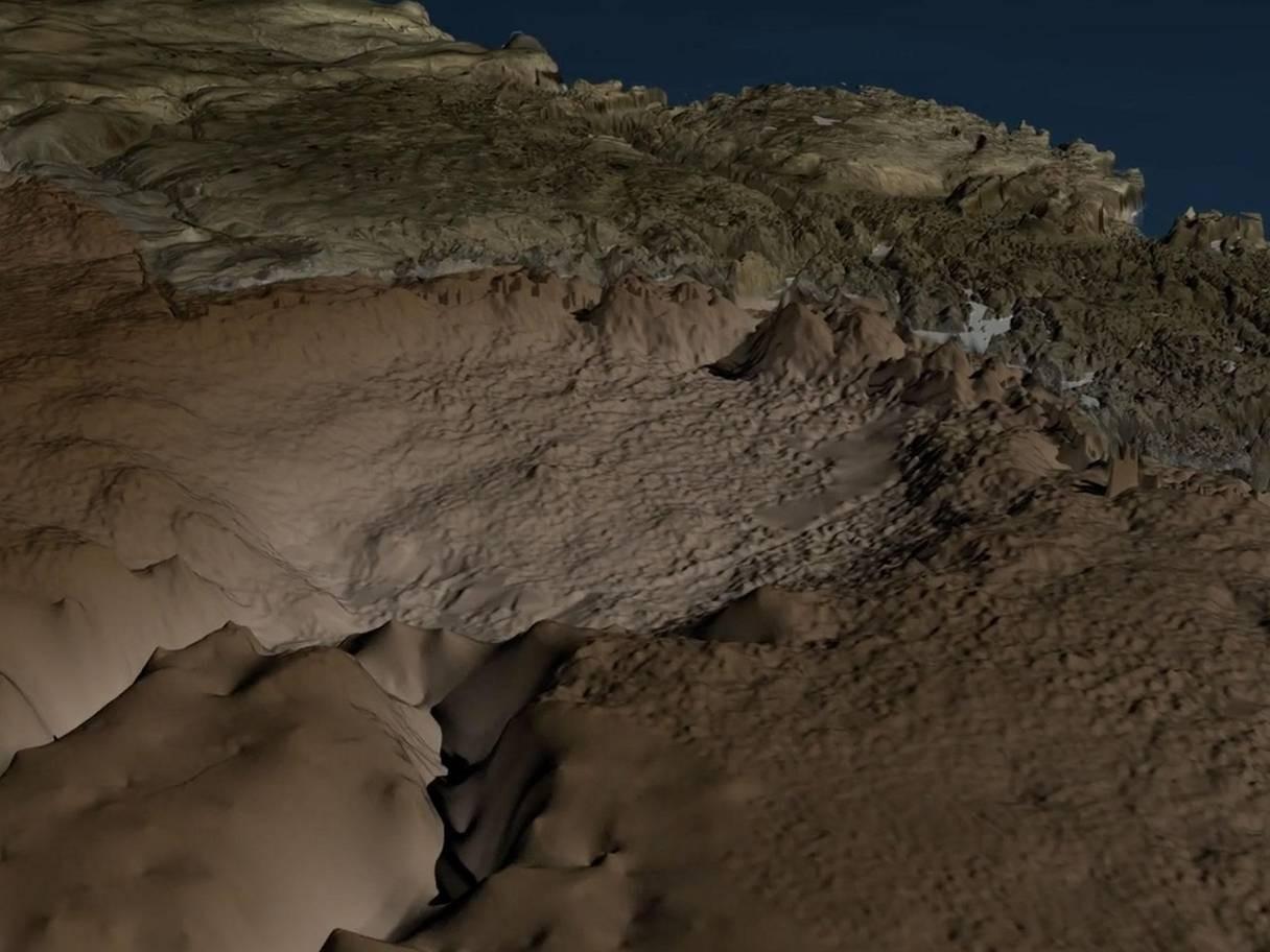 Cratera na Groelândia está bem preservada (Foto: Reprodução/Science Advances/Iain McDonald)