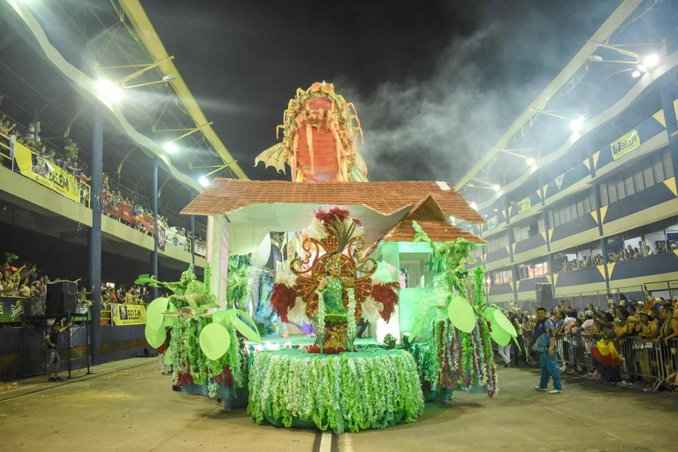 Grêmio Recreativo Jurunense Rancho Não Posso Me Amofiná Carnaval de Belém 2020 — Foto: Fernando Sette/Comus