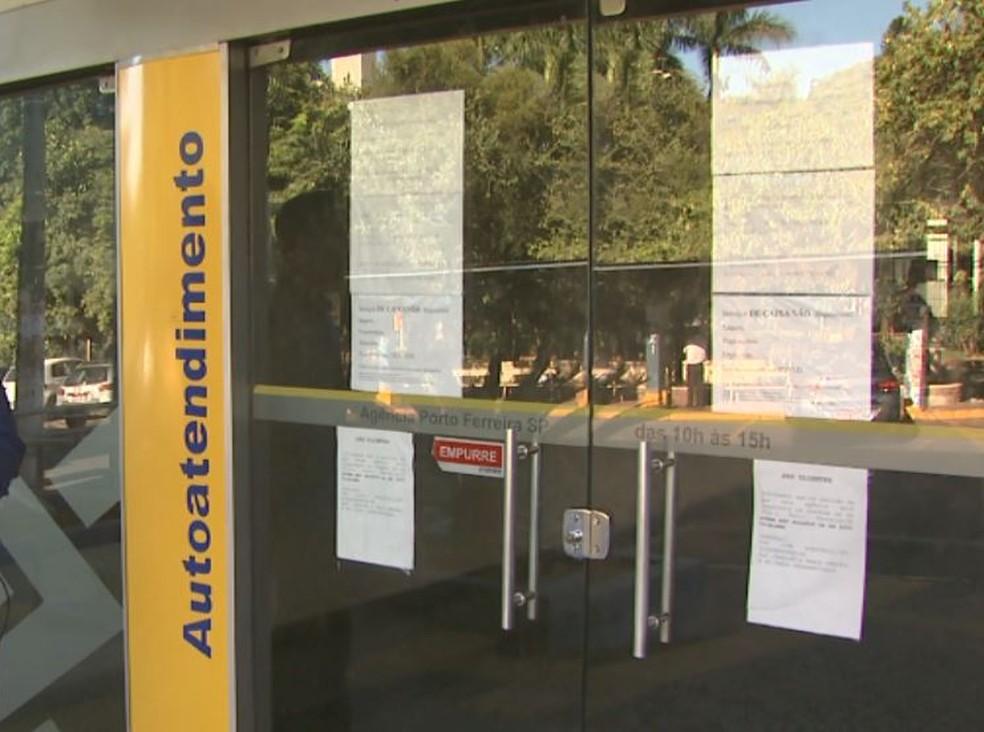 Agência do Banco do Brasil em Porto Ferreira (Foto: Reprodução/ EPTV)