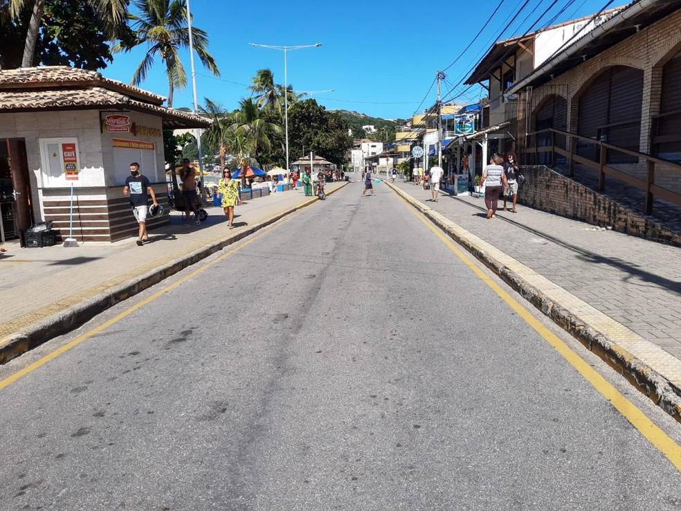 Avenida Erivan França, em Ponta Negra, será interditada no fim de semana, das 10h às 15h — Foto: Lucas Cortez/Inter TV Cabugi