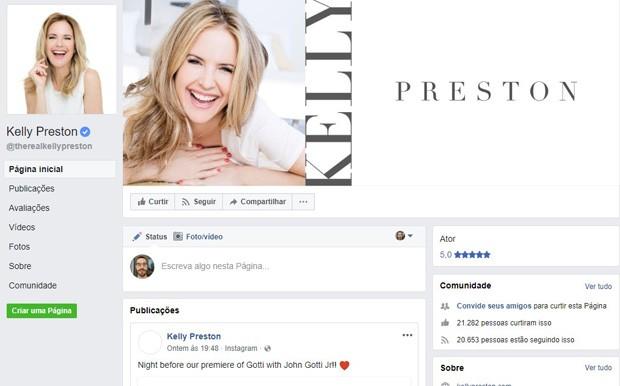 Kelly Preston (Foto: Reprodução/Facebook)