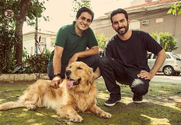 """Da esquerda para a direita, Eduardo Baer, da DogHero e seu sócio, Fernando Gadotti: expoentes da """"nova economia"""" (Foto: Divulgação)"""