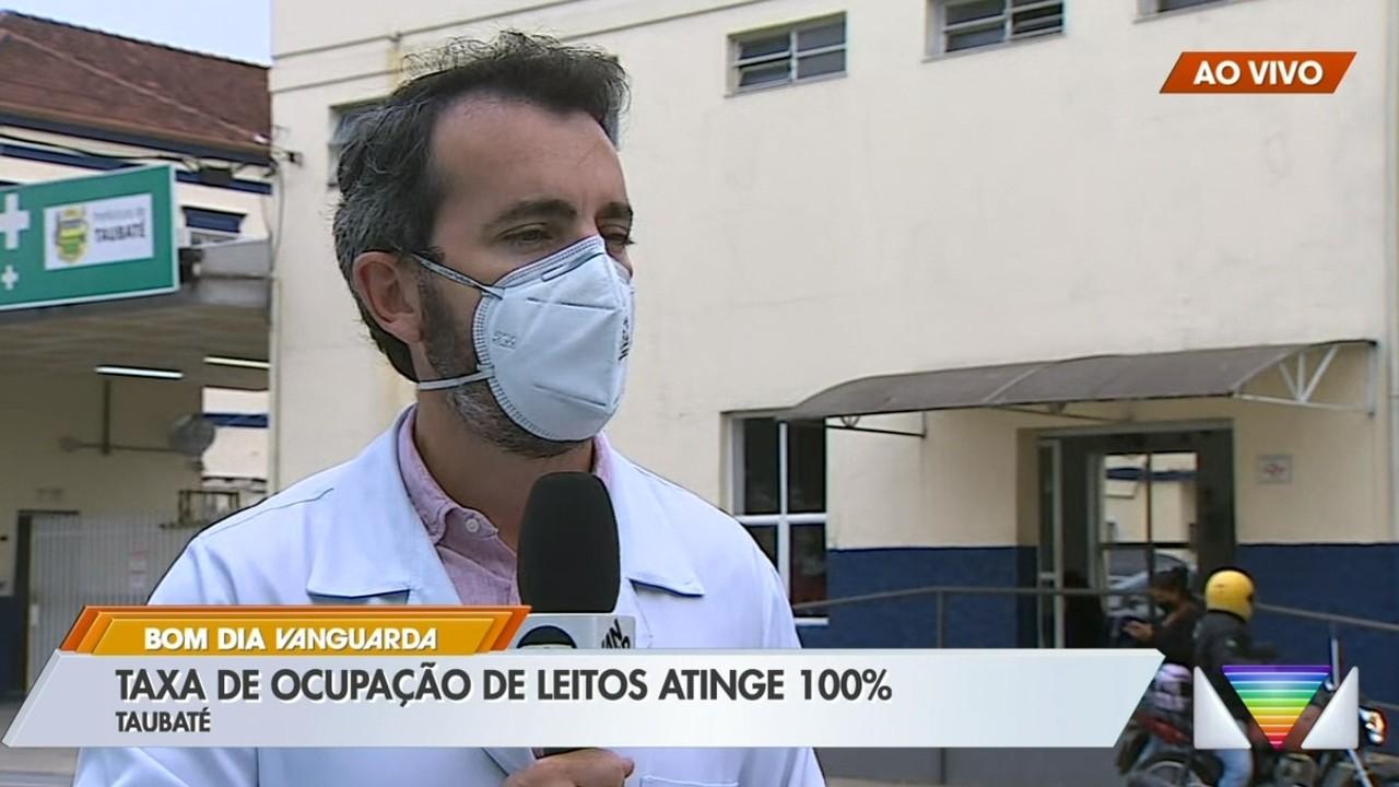 Taubaté atinge 100% da ocupação de leitos para Covid-19