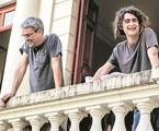 Joaquim Torres e o pai, Andrucha Waddington | TV Globo/Raquel Cunha