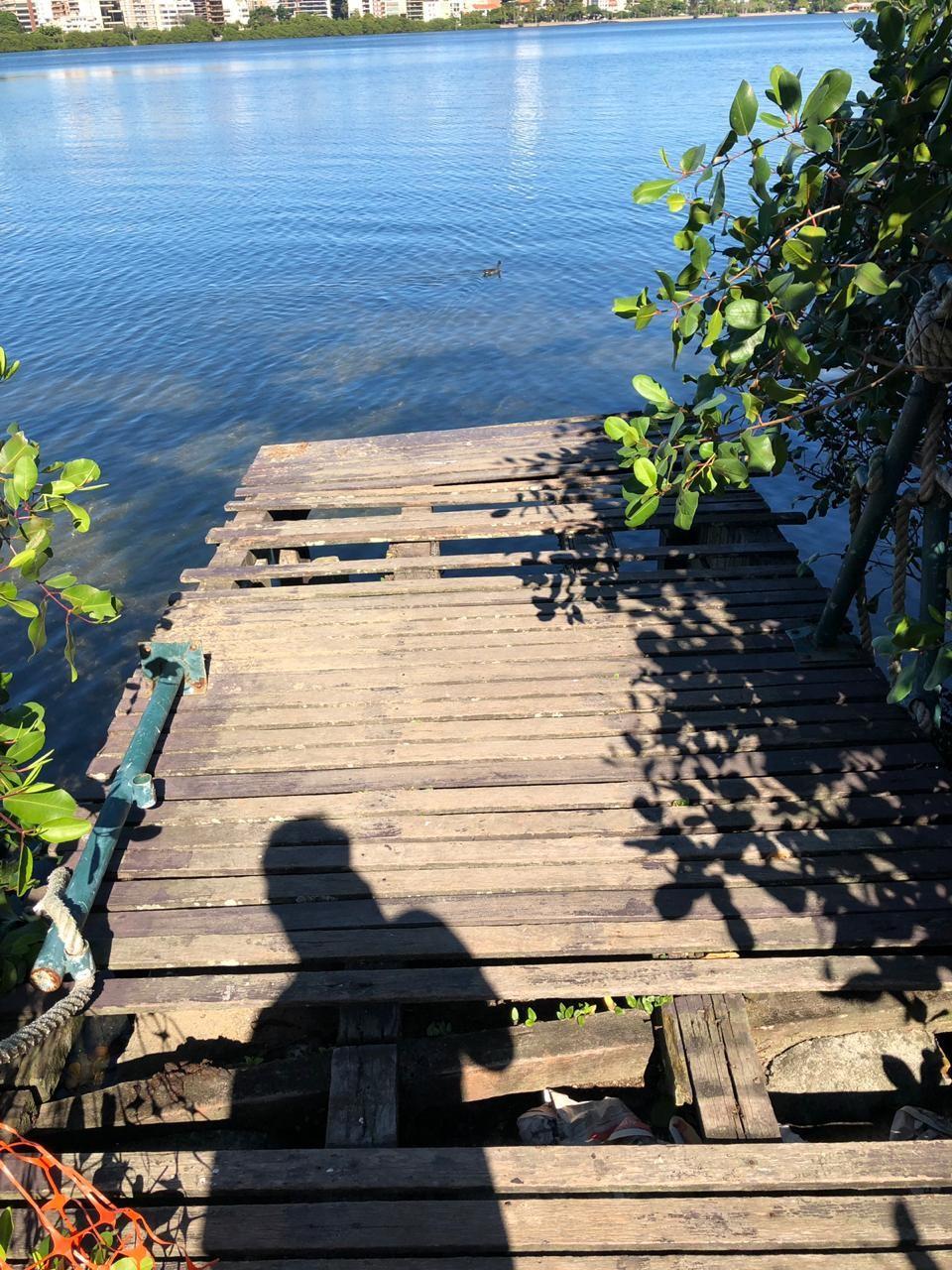 A situação de um deck na Lagoa